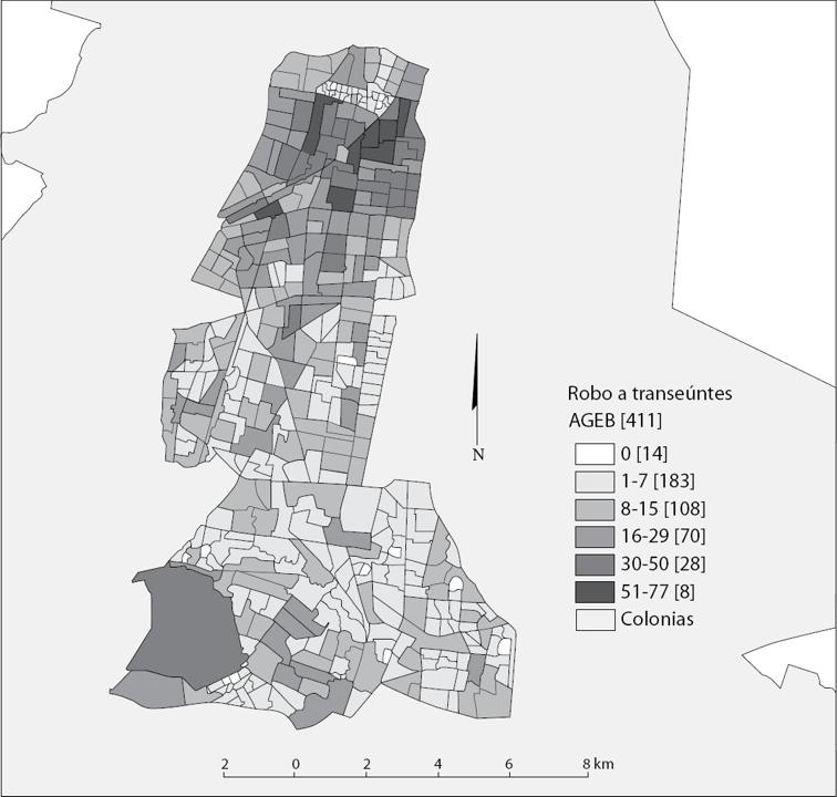Visor Redalyc - La distribución espacial del robo a transeúntes y el ...