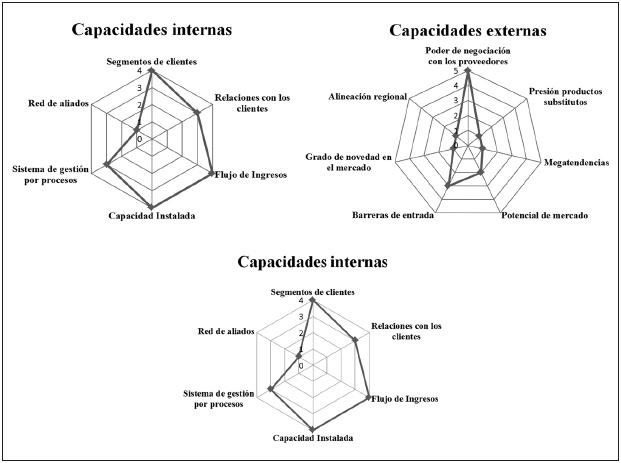 figura 6 medicin de capacidades internas externas y de innovacin fuente elaboracin propia