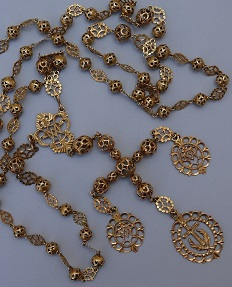 1 cadena metálica de grandes anillos chapa plaquitas marcado por plata brillante señora