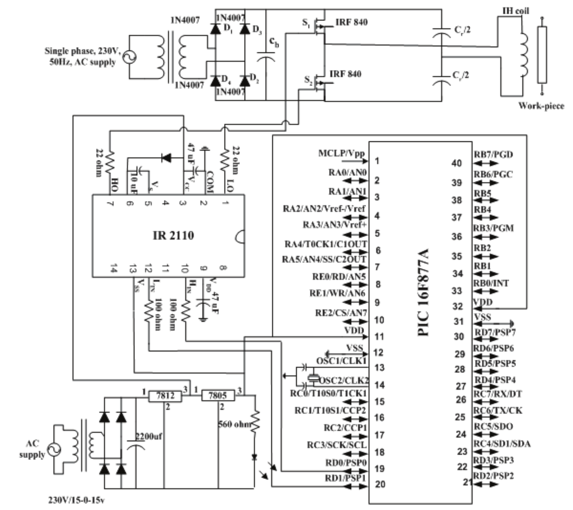 Pulse Mask Controlled Hfac Resonant Converter For High Efficiency Induction Cooker Schematic Circuit Diagram The Hardware Implementation Of Conversion