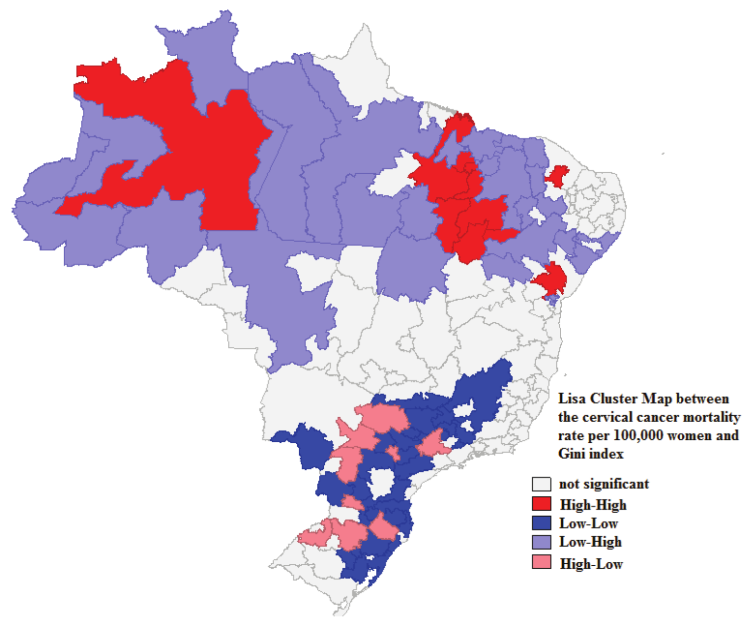 Picture of: Visor Redalyc Mortality Rate For Cervical Cancer In Brazil And Socioeconomic Indicators A Spatial Study