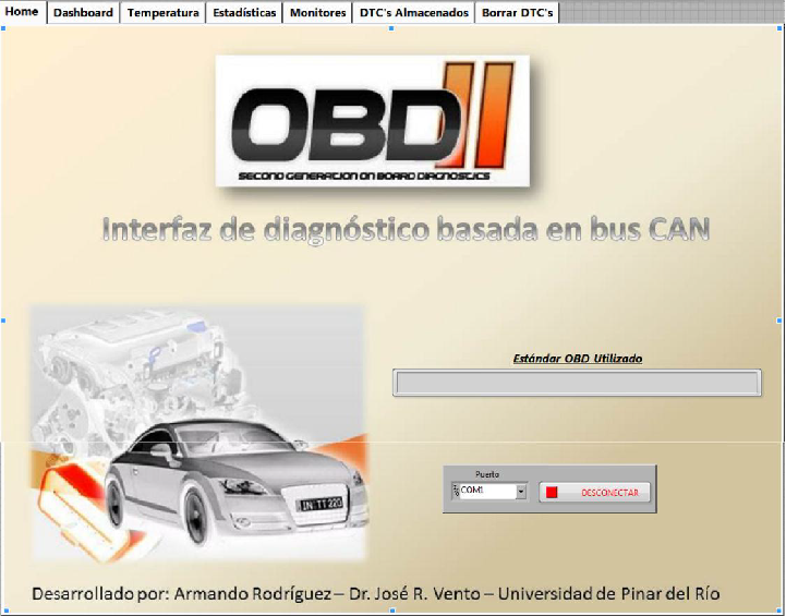 Implementation of an OBD-II diagnostics tool over CAN-BUS