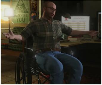"""Captura de pantalla de GTA 5 con el """"ojo que todo lo ve""""."""